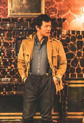 Corduroy safari jacket, Santillo 1970; Indigo denim trousers, Lardini; Black silk braces, Albert Thurston; Dark brown leather boots, Ludwig Reiter.
