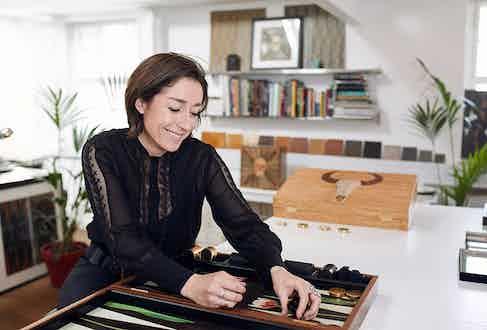 Alexandra in her London studio.
