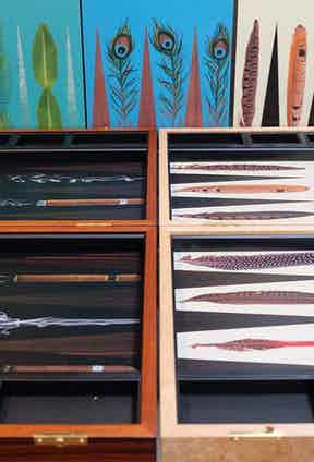 A selection of Alexandra's magnificent backgammon designs.