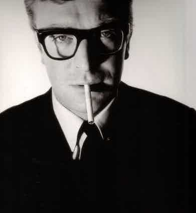 One of the most iconic photographs of Sir Michael Caine by David Bailey, wearing the Lord model by Oliver Goldsmith.