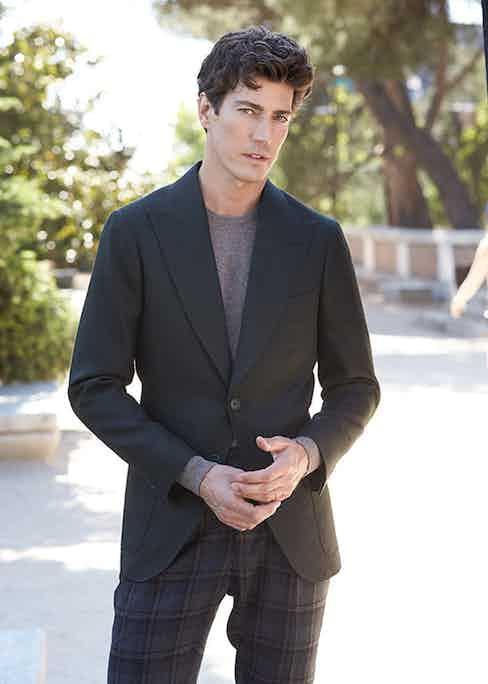 Oriol Elcacho wears B Corner, a label set on shaking up the world of Spanish bespoke tailoring.
