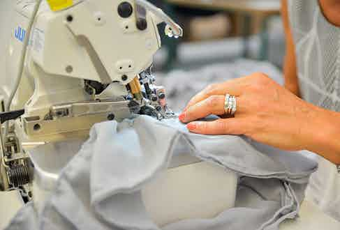 Over 400 people work on Gran Sasso's production Iines in its 40,000 sqm factory.