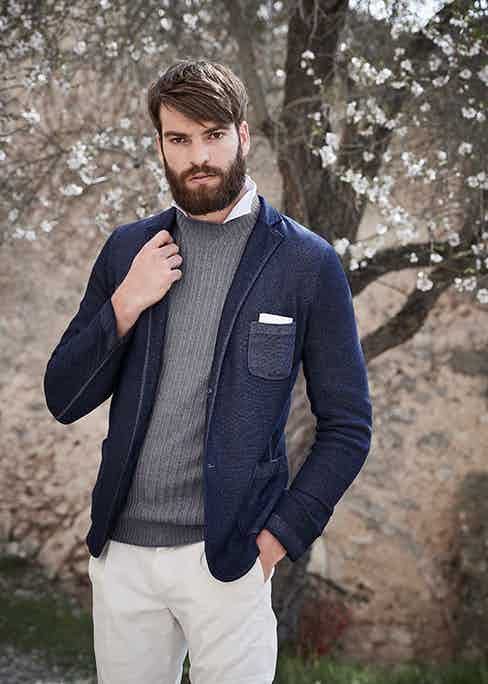 Gran Sasso knitwear offers plenty in the way of versatility and can easily be dressed up or down.