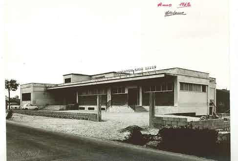 The Gran Sasso factory in 1962.