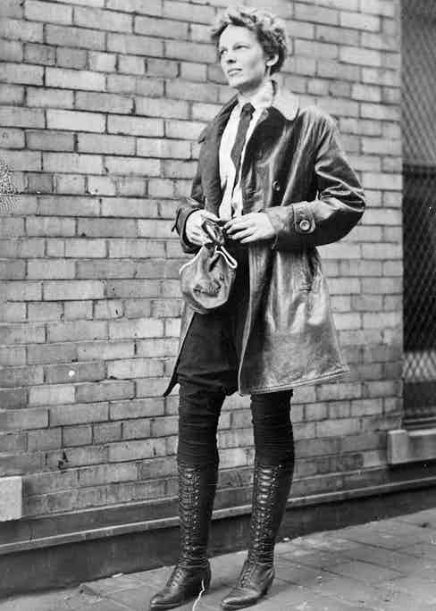 Female aviator Amelia Earhart, Chicago, Illinois, 1928. (Photo by Chicago History Museum/Getty Images)