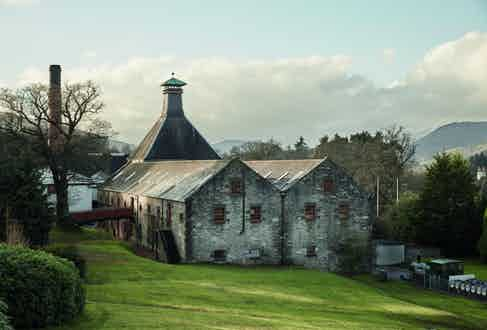 On location at Dewar's Aberfeldy Distillery.
