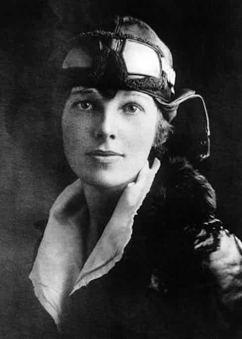 UNITED STATES - JANUARY 01:  Miss Amelia EARHART - the girl Lindy - who arrived in Trepassey, Newfoundland, in the FOKKER plane Friendship with pilot Wilmer STULTZ and mechanic Slim GORDON completing the first two legs of their projected flight to England.  (Photo by Keystone-France/Gamma-Keystone via Getty Images)