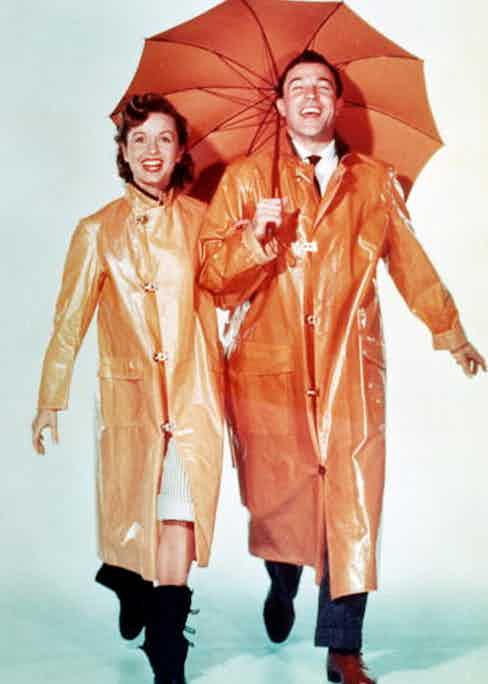 American dancer and actor Gene Kelly in 'Singin' in the Rain', directed by Stanley Donen and Kelly, 1952 (Photo by Silver Screen Collection/Hulton Archive/Getty Images).