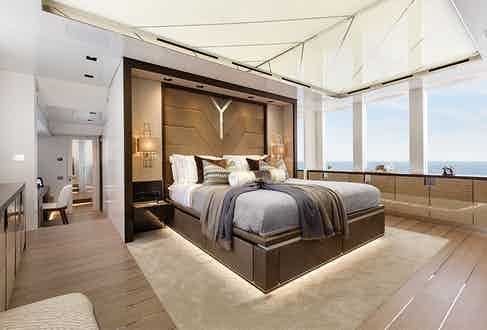 The Super Yacht master bedroom.