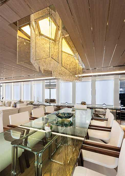 The Super Yacht dining area.