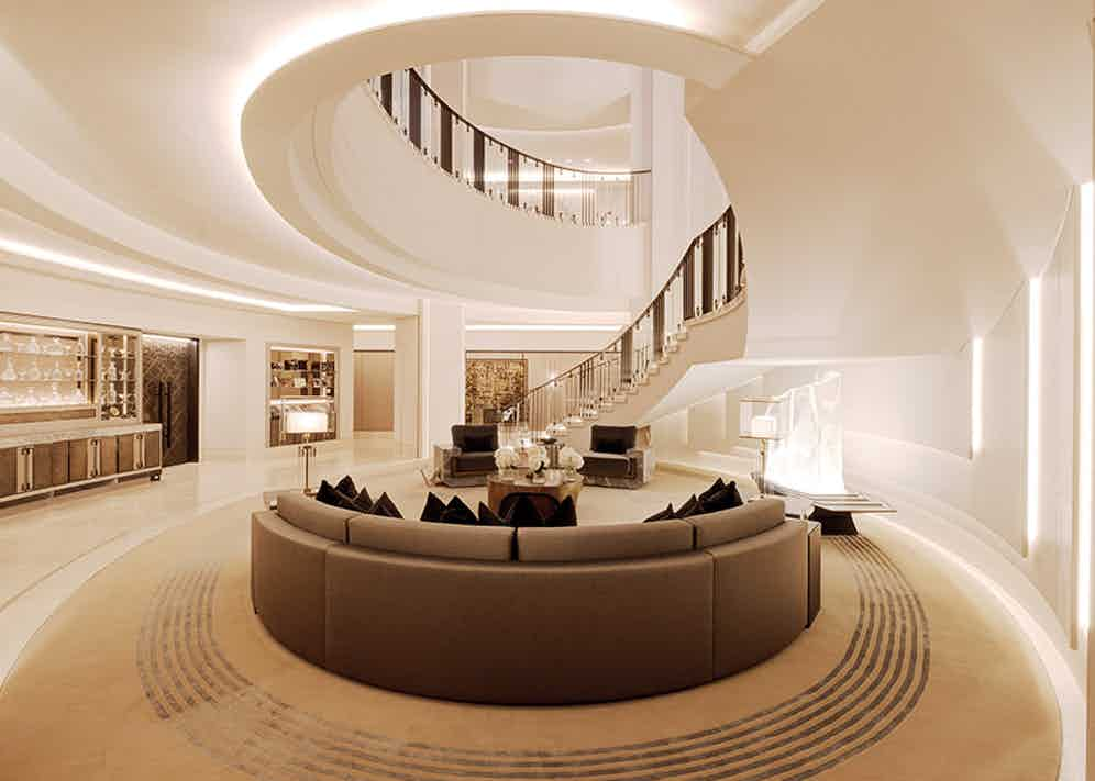 The meeting area of Clarges Mayfair.