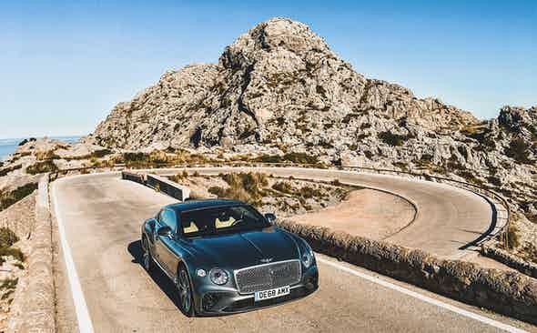 Hills and thrills: Bentley takes on Mallorca