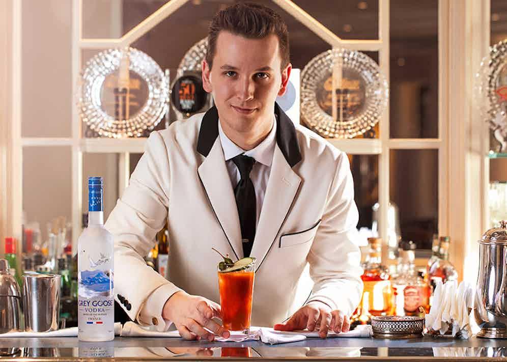 Maxim Schulte, head bartender at The Savoy's American Bar.
