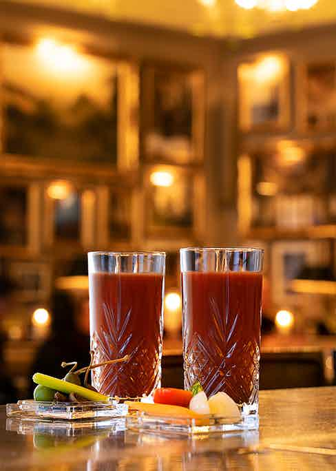 The Bloody Mary at Berner's Tavern.