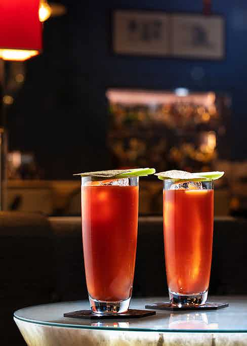 The Bloody Mary at the Berkeley's Blue Bar.
