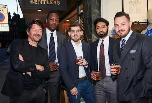 Robin Clementson, Bola Odusina, Luke Alland, Gurj Sohanpal and Benn Bromley.