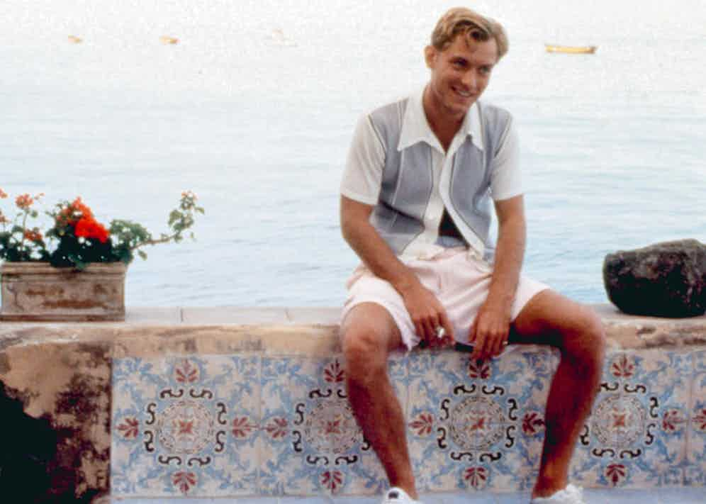 Jude Law in the role of Dickie Greenleaf in the enduringly stylish film The Talented Mr. Ripley (1999).