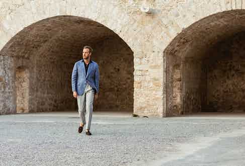 Loafers lend a laid-back yet sophisticated touch to business attire.