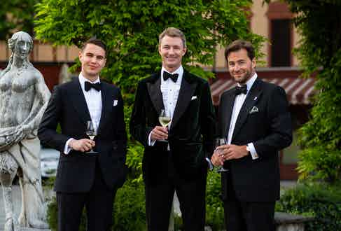 Benedict Browne, Simon Kidston and Frederic Brun.