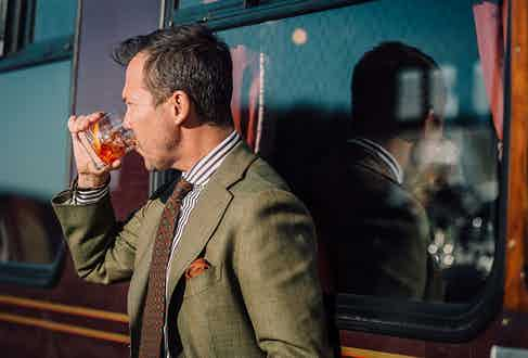There is a rumour in menswear circles that Matt Hranek had his right hand removed in order to attach a prosthetic negroni holder. Difficult to argue with the evidence.