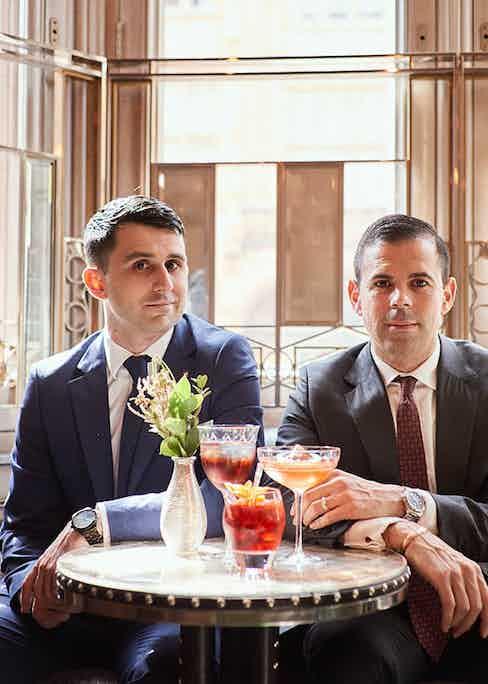 Giorgio Bargiani and Agostino Perrone, The Connaught's Director of Mixology.