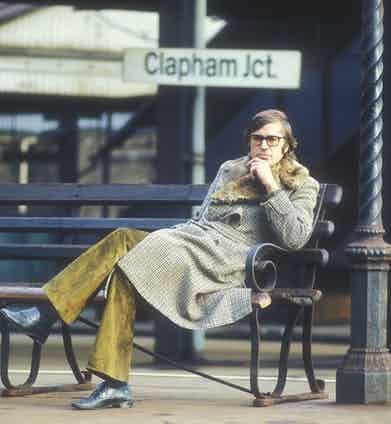 Paul Theroux at Clapham Junction, 1978 (Photo by Martyn Goddard/REX/Shutterstock (823803b)