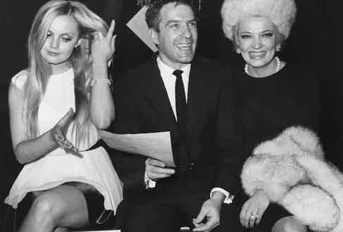 With the American actress Alexandra Ray and his wife Gena Rowlands, Circa 1968.