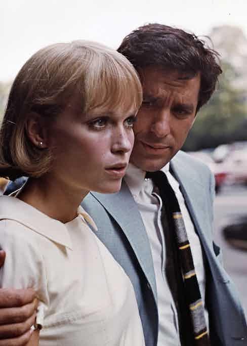 With Mia Farrow for Rosemary's Baby.