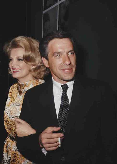 With Gena Rowlands in 1968.