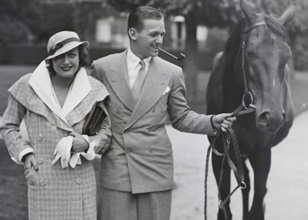 Joan Crawford with actor husband Douglas Fairbanks, Jr in 1932