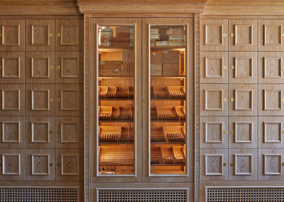 The Birley Cigar Keeps at Mark's Club.