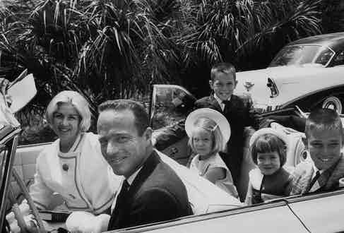 Scott Carpenter with his wife and children, 1962.
