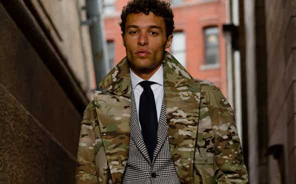 Exclusive: The Rake X 18th Amendment Multi-Camo Raincoat
