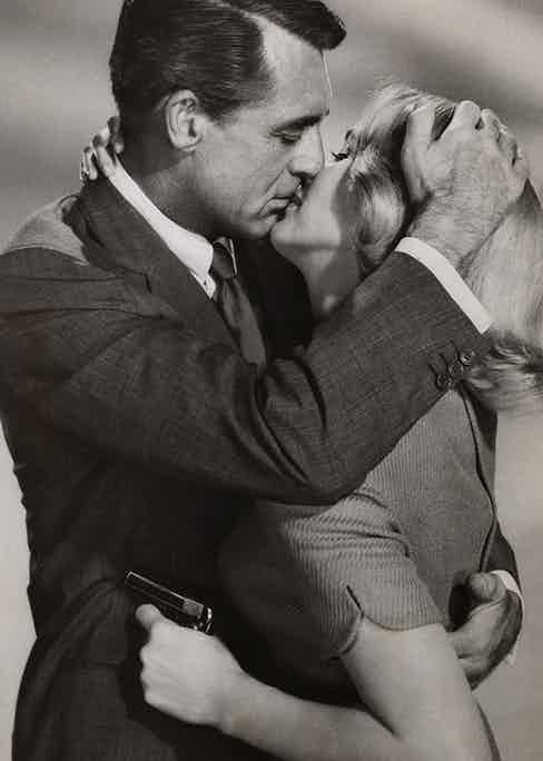 """Cary Grant and Eva Marie Saint in the film """"North by Northwest"""" directed by Alfred Hitchcock. In 1959. (Photo by adoc-photos/Corbis via Getty Images)"""