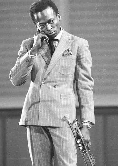 Jazz legend Miles Davis was a regular customer at Paul Stuart.  (Photo by Michael Ochs Archives/Getty Images)