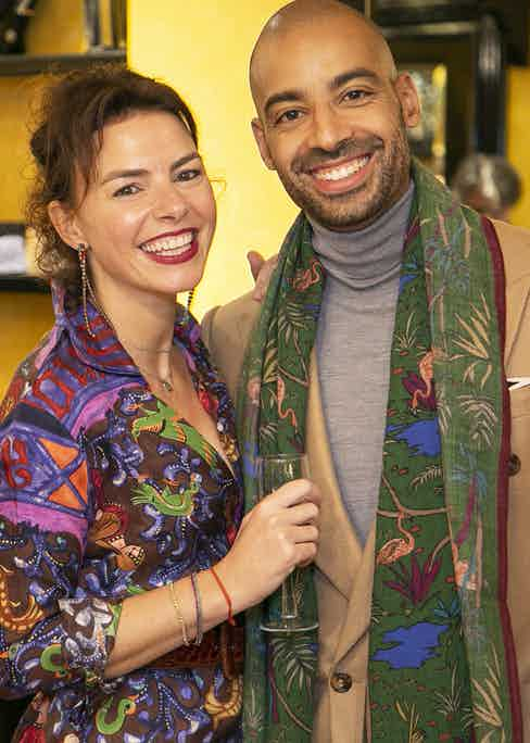 Chiara Rubinacci and Alain Gafundi