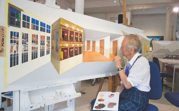 Artist Patrick Hughes Puts Things in Perspective