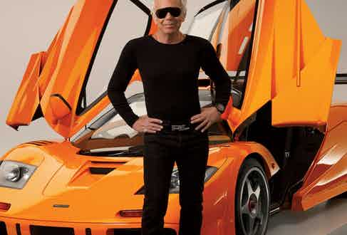 """One of the world's greatest, most discerning car collectors, Ralph Lauren is pictured with his 1996 McLaren F1 LM. He says the ultra-rare, ultra-fast supercar """"is like Star Wars — a hovercraft."""" (Photo by Richard Corman)."""
