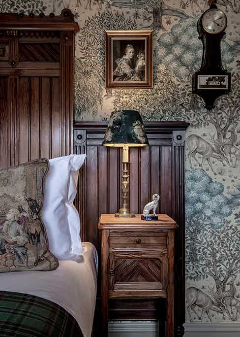 Detail of the Allan Ramsay Room at The Fife Arms.