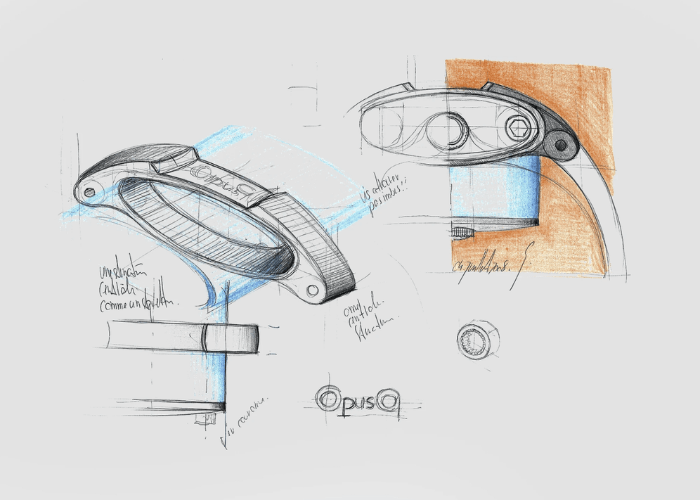 A sketch of the Harry Winston Opus 9 by Eric Giroud.