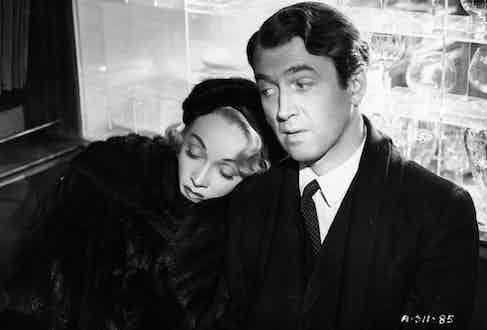 With James Stewart in the film No Highway in the Sky. (Photo courtesy of Getty Images)