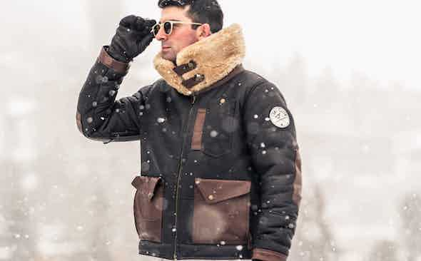 Invest: Alps & Meters Chocolate Shearling Patrol Bomber