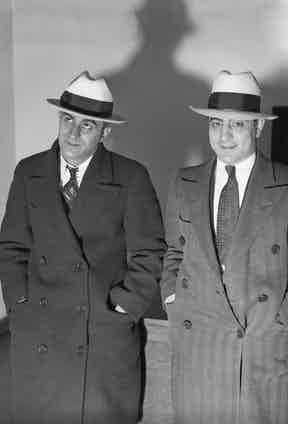 Louis Clementi (on left), a gunman for Al Capone, and Phillip Mangano, a Gambino crime family member, Chicago, ca.1920s. (Photo by Chicago Sun-Times/Chicago Daily News collection/Chicago History Museum/Getty Images)