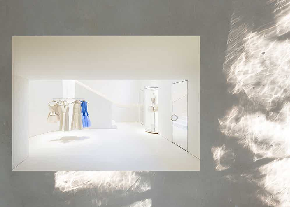 Pawson designed Christopher Kane's first London boutique on Mount Street.