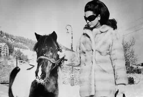 Princess Ira Von Furstenburg with a pony. (Image by © Bettmann/CORBIS).