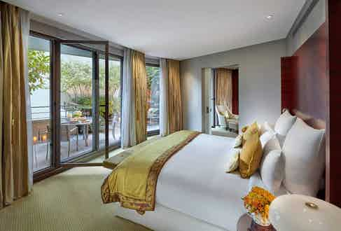 The Terrace Suite at the Mandarin Oriental Paris.