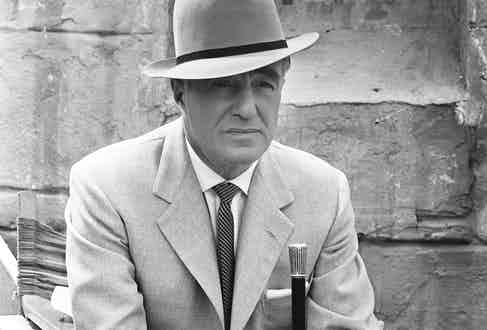 De Sica in a still from the television series The Four Just Men, 1960. (Photo courtesy of Getty).