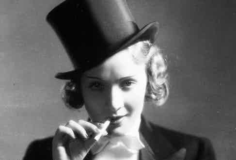A film still of Dietrich in Morocco (Photo by SNAP/REX)