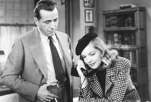 Alongside each other in arguably their most famous joint performance, The Big Sleep.