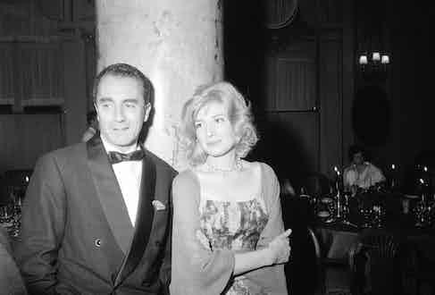 Festival de Cannes 1960 Michelangelo Antonioni and Monica Vitti (Photo by GRAGNON Francois/Paris Match via Getty Images)